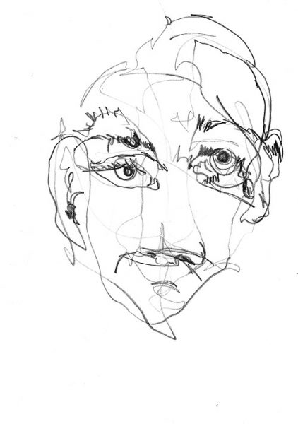 Contour Line Drawing Of A Face : In memory of sean the south