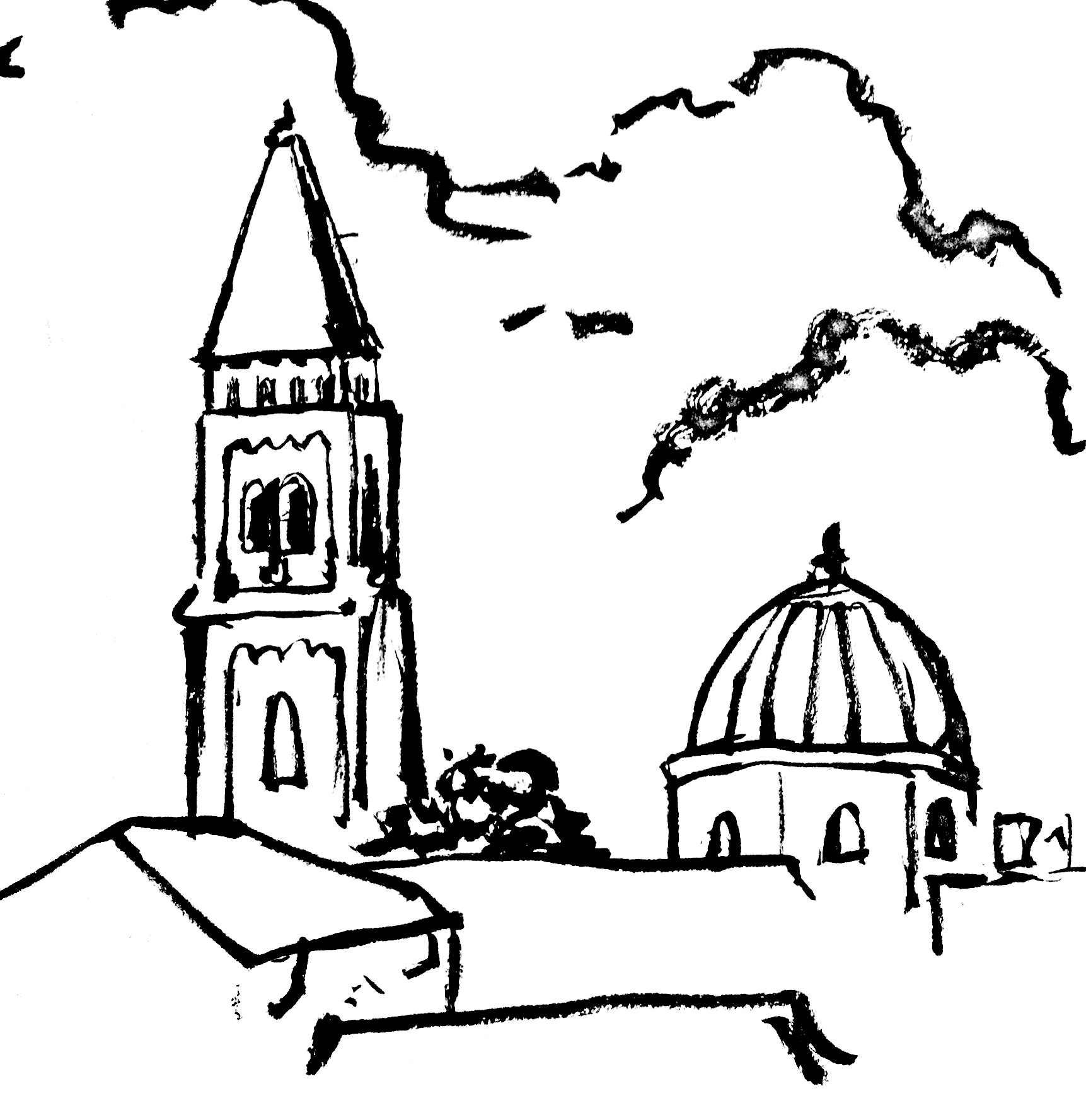 Line Art Jerusalem : God is hate sean of the south
