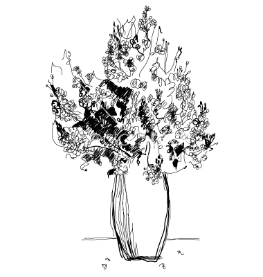 drawing bouquet