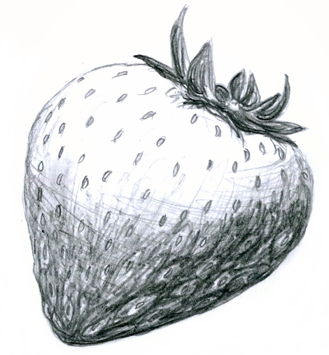 Strawberry pencil