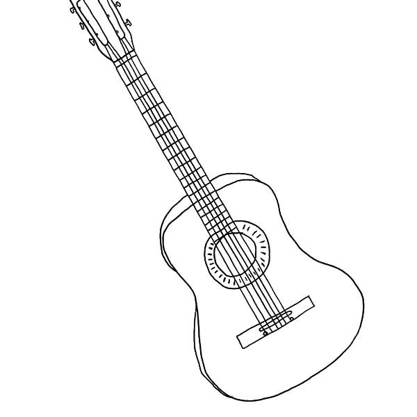 Outstanding Electric Guitar Coloring Pages With Page And
