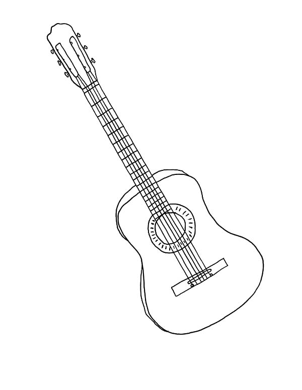 Guitar coloring page | Free Printable Coloring Pages | Guitar drawing,  Guitar kids, Free printable coloring | 776x600