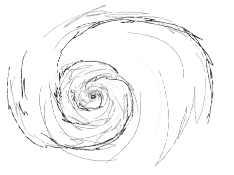 how to draw a hurricane
