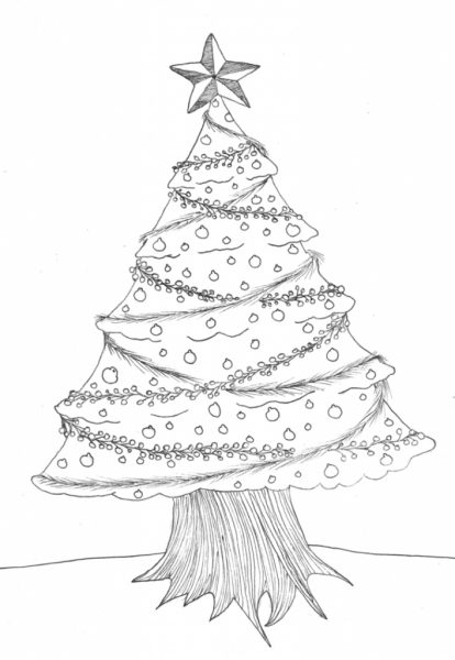 sketch of christmas tree christmas trees of the south 7384
